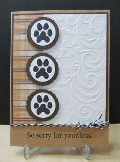 """Wednesday, July 3, 2013 Savvy Handmade Cards: Pet Sympathy Card 