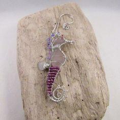Sea Glass Sea Horse Suncatcher Ornament by vroberts1017 on Etsy, $40.00