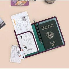 NewChic - NewChic Women PU Leather Outdoor Boarding Must-have Passport Bag Clutches Bag Travel Bag - AdoreWe.com