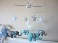 Dreamtime+Baby+Elephants+-+Baby+Blue+and+Grey+Felt+Baby+Mobile+