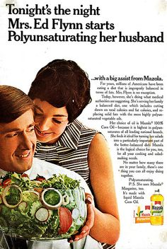 """And if it's anything like the time she dehydrogenated him, it's not going to be pretty."" (Funny bad retro food ads)"