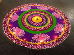 My Entertainment Rocks: Beautiful Rangoli Design For Diwali Easy Rangoli Designs Diwali, Rangoli Simple, Indian Rangoli Designs, Rangoli Designs Latest, Simple Rangoli Designs Images, Rangoli Designs Flower, Free Hand Rangoli Design, Rangoli Border Designs, Small Rangoli Design