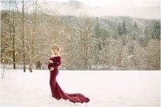 Maternity Photographer – Maternity Photographer - maternity dress - winter maternity - snow