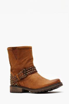 Frankie Studded Boot - Tan