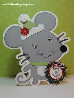 The Cricut Bug: Merry Mouse Shape Card