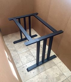 Design Dining Table Base. Steel Heavy Duty Sturdy Base. This is a set of 2 legs with 2 upper cross braces. Hand made, hand crafted base. This steel table base will not ship assembled! The cross bars will be bolted! We are making the holes with thread and will provide the