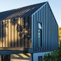 So I do really like standing seam cladding but as there will be very little visible on the extension apart from down the side of the house, it's probably not worth the expense, right? Also might not look great with the crittal style doors? Roof Cladding, House Cladding, Metal Cladding, Facade House, House Roof, Wall Cladding, Roof Design, House Design, Mansard Roof