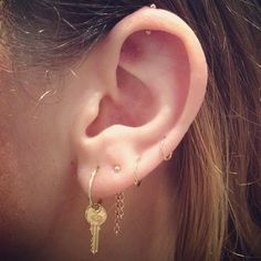 Photo by jcolbysmith Found my next piercing! The top cartilage with the double ended stud.