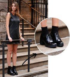 e1242b82df O Sapato que Deixa Todo Look Cool. Sapato De Salto PretoOxford Feminino ...