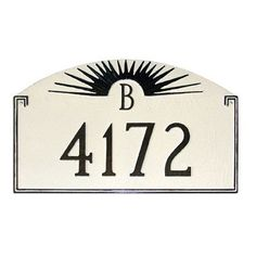 Montague Metal Products Sunfire Monogram Address Plaque Finish: