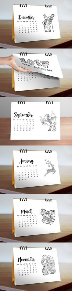 Doodle Desk Calendar 2017 No2