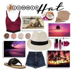 """""""Fedora with tropical looks"""" by willy3384 on Polyvore featuring Beauty & The Beach, Topshop, Melissa Odabash, MIA, Yves Saint Laurent, Terre Mère, Chanel, tropical, Fedora and magenta"""
