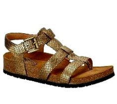 Soft 'Burdette' Leather Sandal Gold Rush - Made in Spain, these stylish sandals come in a range of different color leather straps. The Santiago Wedge has also been designed with a slight heel, ultra comfortable buckle fastening and synthetic sole. Perfect for when you want a look that's a little dressier, and they'd look great paired with capri pants, skinny jeans or a cute dress.