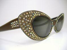 Vintage Paris France Rhinestone Hollywood Glam Cat Eye Eyeglasses by vintage50seyewear, via Flickr