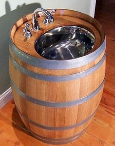 Cool sink. Would fit right in with the barrel bottle rack