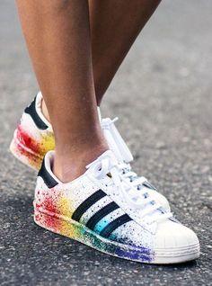 rainbow Adidas sneakers
