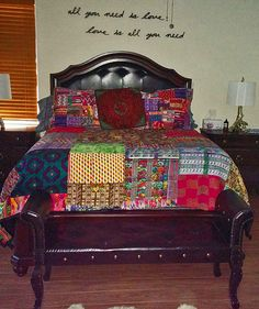 We love when customers share pictures with us of the items they purchase ~she said: The quilts are so beautiful and the quality is unbelievable. They are so cozy and surprisingly soft too. Thanks again, Deb Thomson. Decor, Decor Design, Home Bedroom, Master Bedroom Redo, Home Design Decor, Colorful Decor, Funky Home Decor, Dream Rooms, Pillow Covers