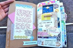 """Great pictures of a daybook- for inspiration:) From """"I am a paper addict"""", Cathy Vee."""