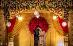 As much as how South-Indian weddings matter, so are receptions. With our weddings being all traditional and 4 Indian Reception, Indian Wedding Receptions, Wedding Reception Backdrop, Wedding Mandap, Wedding Dresses, Wedding Table, Wedding Flowers, Wedding Hall Decorations, Marriage Decoration
