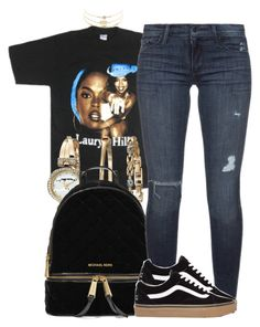 """""""Ms. Lauryn Hill """" by trinsowavy ❤ liked on Polyvore featuring Anne Klein, MICHAEL Michael Kors, Black Orchid and Charlotte Russe"""