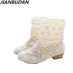 crochet summer boots bootie 2018 with the new shoes lace openwork crochet  boots Plus size hollow 47618d70aaa