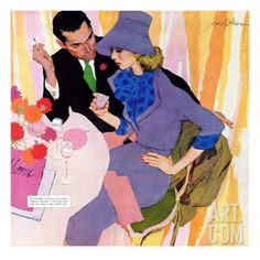 """Marriage Is Not For Me - Saturday Evening Post """"Leading Ladies"""", June 15, 1957 pg.40 Giclee Print by Robert Meyers at Art.com"""
