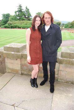 Sam Heughan (Jamie Fraser) & Caitriona Balfe (Claire Fraser) from the Outlander series on Starz