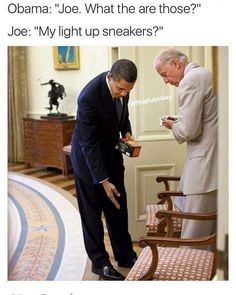 Top 26 Joe Biden Memes on pranking Trump and other funny things Joe And Obama, Obama And Biden, Dankest Memes, Funny Memes, Jokes, Funny Political Memes, Funny Politics, Barack Obama, Obama Funny