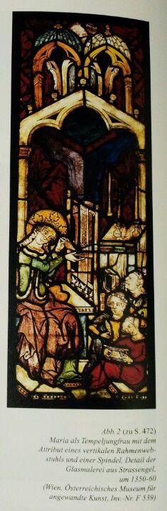 Maria als Tempeljungfrau, c. 1350-60. Österreichisches Museum für angewandte Kunst.