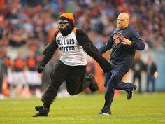 #NFL Fan #wearing #gorilla suit arrested after storming field...