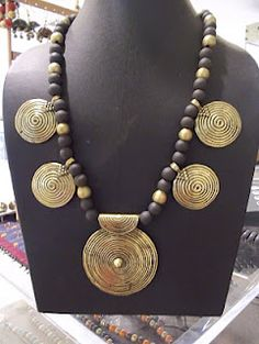 Antique brass and terracotta necklace - my personal favourite!