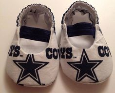 Dallas Cowboys Baby Maryjane Booties on Etsy, $15.00