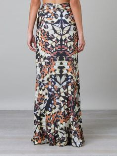 Blue Man Butterfly Print Maxi Dress - Destination Brazil - Farfetch.com
