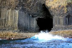 While it may look like Mother Nature is a big fan of Tetris, Fingal's Cave was formed from the cooling and fracturing of lava over millions of years. The outside of the cave is all nature's doing, so maybe she did have an old-school Game Boy in her back pocket after all.