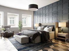 panneau décoratif mural -gris-graphite-tapis-bleu-gris