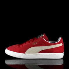 "d8c11c739e8622 PUMA SUEDE CLASSIC ""TEAM REGAL RED-WHITE"" Puma Suede"