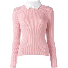 Altuzarra shirt collar jumper ($824) ❤ liked on Polyvore featuring tops, sweaters, shirt jumper, jumper top, jumpers sweaters, collar top and collared sweater
