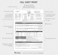Blank shot list template. Shot lists can replace a