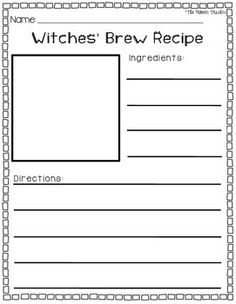 Writing a witches brew band