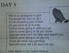 This was found in a Christian newsletter and I'm hoping it's an awesome Rick Roll rather than plagiarism.