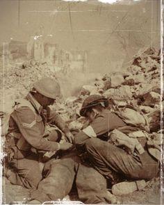 néo-zélandais à Cassino en 1944, pin by Paolo Marzioli