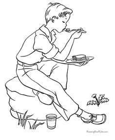 74 Best Camping Coloring Pages Images On Pinterest Coloring Books