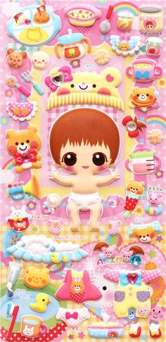 baby dress up doll puffy sponge stickers magic stickers