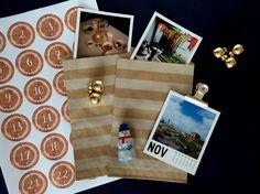 Kalenderblätter in den DIY Adventskalender, ohne Süßigkeiten, ohne Kalorien, advent calendar without sweets but with a calendar