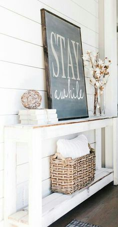 It's the primary and the final a part of your house that company will see. Your entryway units the tone on your entire home, and may tie in with the remainder of your house décor. Inviting entryway decorating ideas welcome… Continue Reading → Rustic Farmhouse Entryway, Farmhouse Interior, Farmhouse Ideas, Farmhouse Style, Farmhouse Signs, Foyer Decorating, Decorating Ideas, Decor Ideas, Diy Home Decor