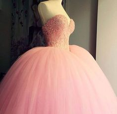 Tulle Ball Gown Evening Dress,Evening Gowns,Sexy Backless Quinceanera