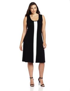 Fashion Bug Womens Plus Size Sleeveless Contrast Dress www.fashionbug.us