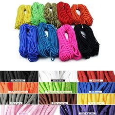 20 Foot - 550lb Nylon Paracord Rope For Camping Hiking Outdoor Survival.