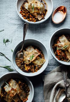Baked vegetable & balsamic lentil stew is topped with crispy potatoes for a pot pie effect. This vegan recipe is healthy and great for holiday entertaining.