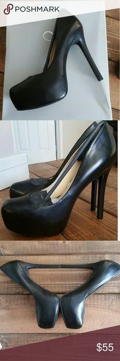 "Brand New Jessica Simpson Heels New in box Never worn Solid black  5.5"" heel Style-Rebeca Jessica Simpson Shoes Heels"